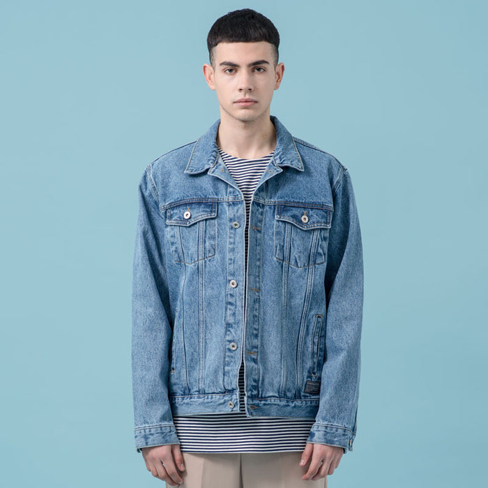WASHED DENIM TRUCKER JACKET(LB)
