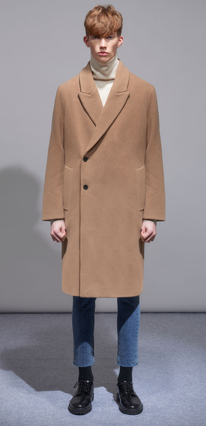 PEAKED WOOL COAT(BG)