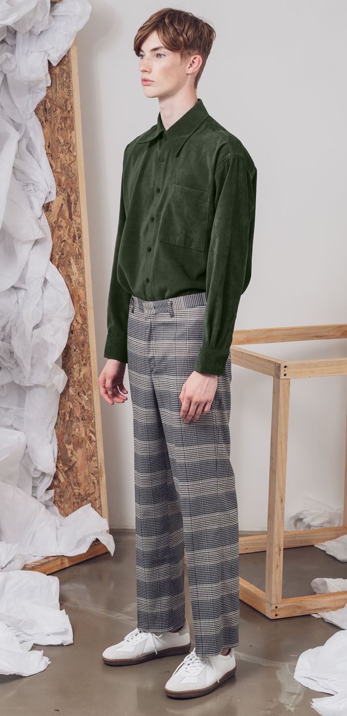 WIDE WOOL SLACKS(CK)