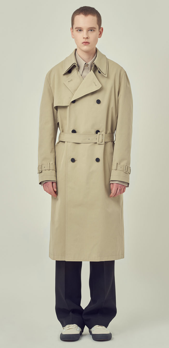 DOUBLE COLLAR TRENCH COAT(BG)