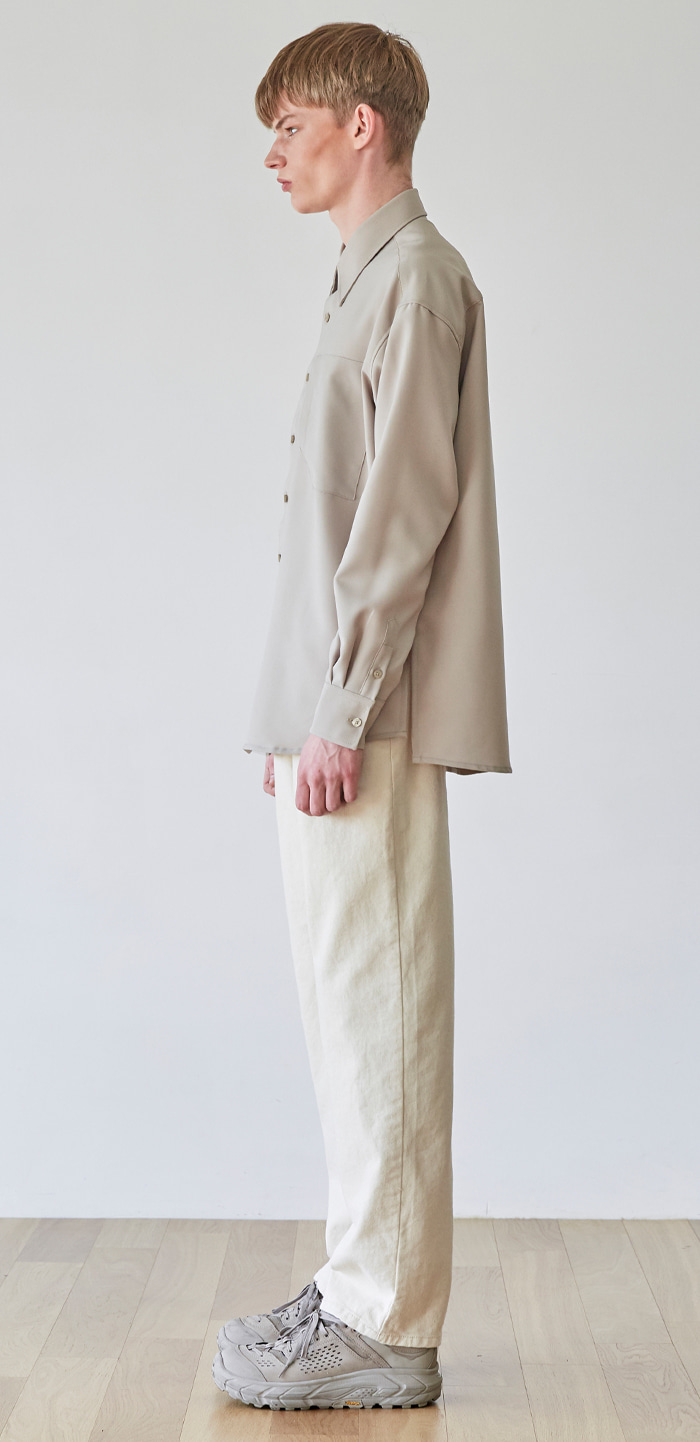 SEMI WIDE WHITE PANTS(WH)