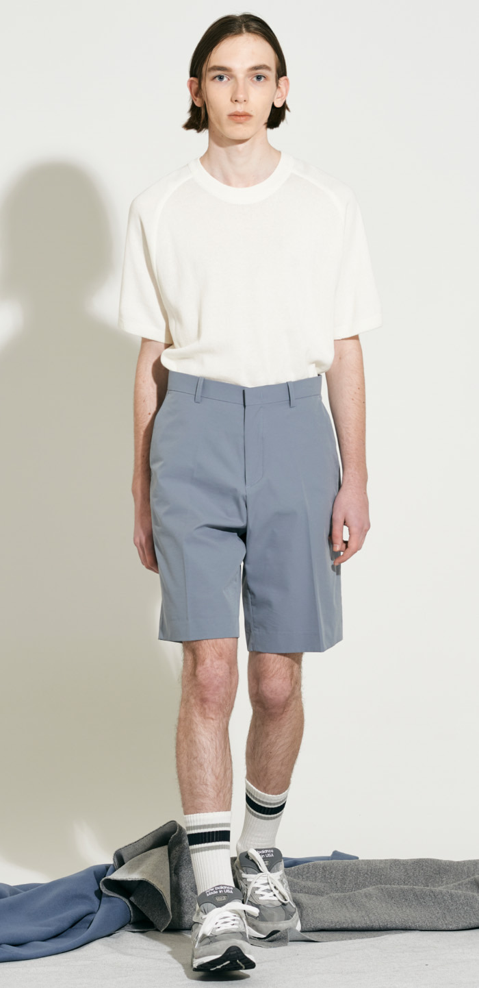 WIDE HALF PANTS(BL)